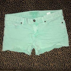 Lucky Brand Mint Green Riley Shorts
